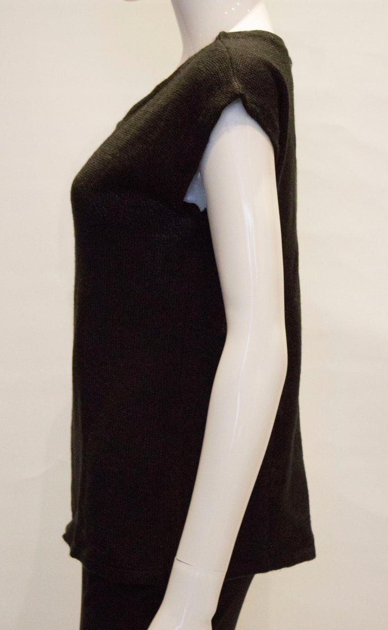 Vintage Mary Quant Black and White Knitted Top For Sale 2