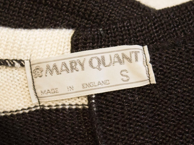 Vintage Mary Quant Black and White Knitted Top For Sale 5