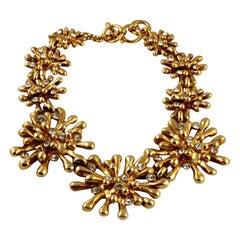 Vintage Massive CHRISTIAN LACROIX Anemone Rhinestone Necklace