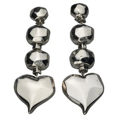 Vintage Massive CHRISTIAN LACROIX Heart Dangling Earrings