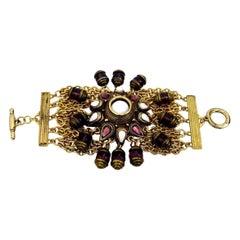 Vintage Massive Claire Deve Charm Bracelet