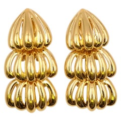 Vintage Massive Givenchy Clip on Earrings 1990's