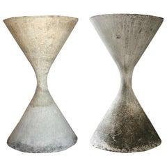 Vintage Massive Hourglass Spindel Large Willy Guhl Planter
