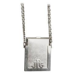 Vintage Massive JEAN PAUL GAULTIER Silver Cigarette Holder Chain Necklace