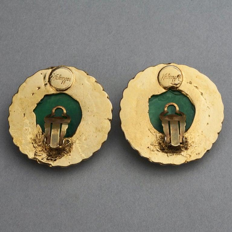 Vintage Massive KALINGER Cherub Carved French Earrings For Sale 6