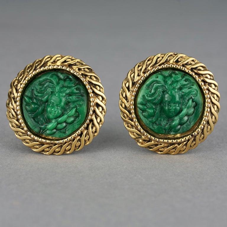 Vintage Massive KALINGER Cherub Carved French Earrings For Sale 1