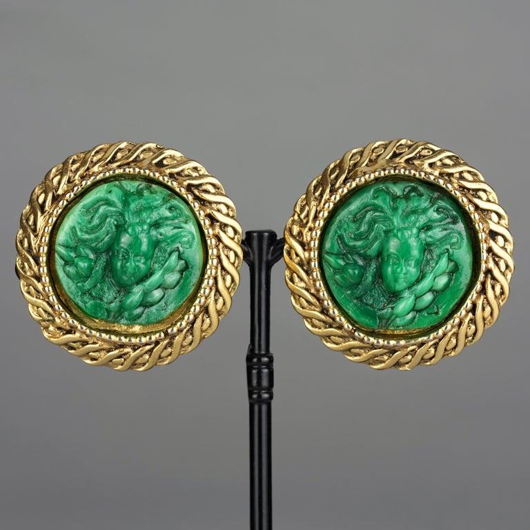 Vintage Massive KALINGER Cherub Carved French Earrings For Sale 2