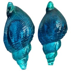 Vintage Massive ROCHAS PARIS Sea Shell Lucite Earrings