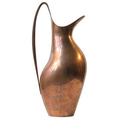 Vintage Masterpiece Pitcher in Copper by Henning Koppel for Georg Jensen