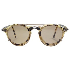 Vintage Matsuda 2837 Light Tortoise Clip On RX 1990's Made in Japan Sunglasses