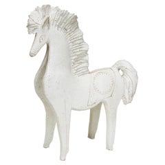 Vintage Matt Glazed Ceramic Horse by Bruno Gambone