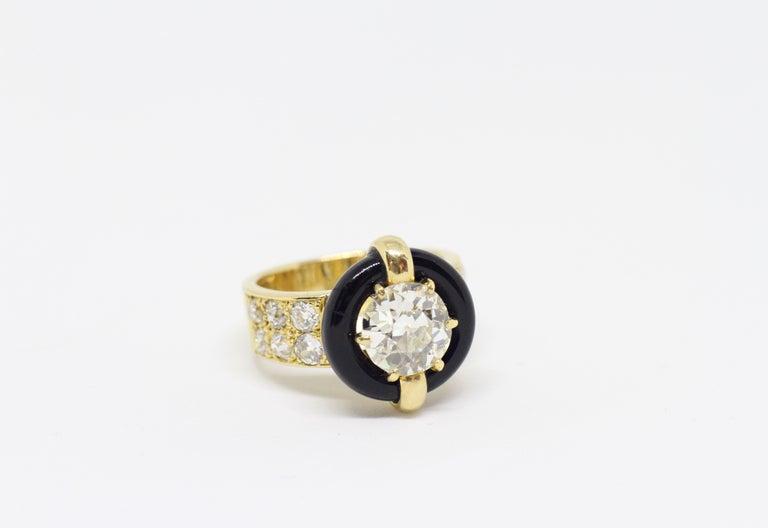 Vintage Montres Mauboussin 1 84 Carat Diamond And Onyx