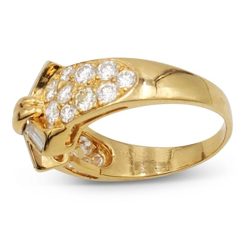Women's Vintage Mauboussin Gold Diamond Ring For Sale