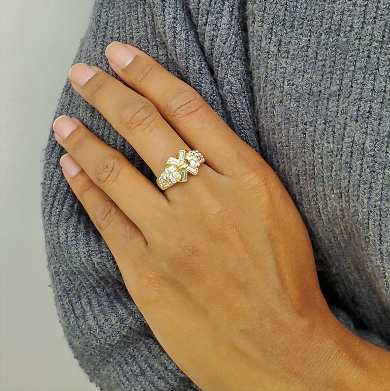Vintage Mauboussin Gold Diamond Ring For Sale 2