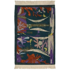 Vintage Maximalism Tapestry Inspired by Paul Klee's Landscape with Yellow Birds