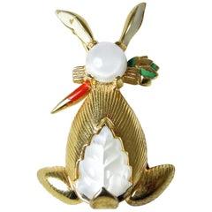 Vintage Mazer Rabbit Brooch