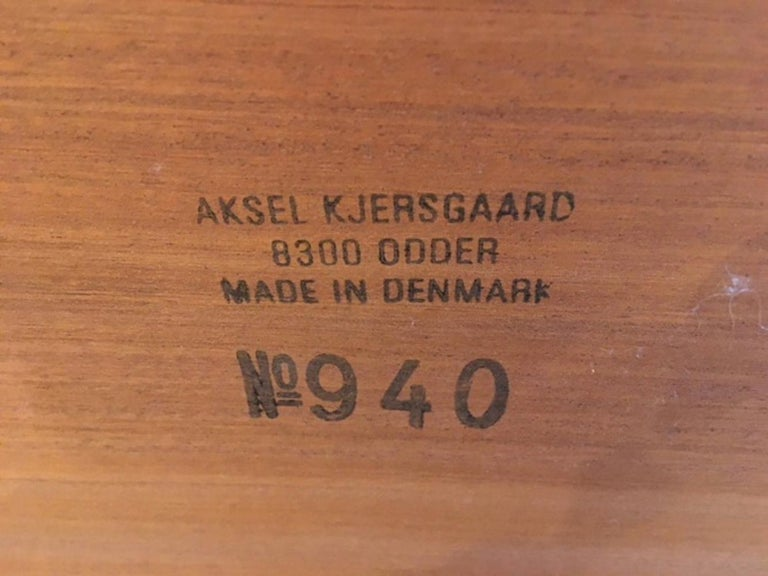 Late 20th Century Vintage Media Cart or Serving Bar Cart by Aksel Kjersgaard, Denmark, 1970s For Sale