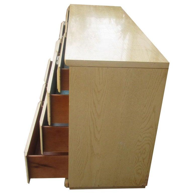 Modern Vintage Mengel Oak Dresser For Sale