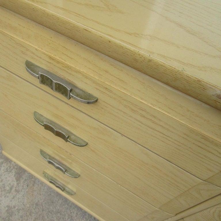 Mid-20th Century Vintage Mengel Oak Dresser For Sale