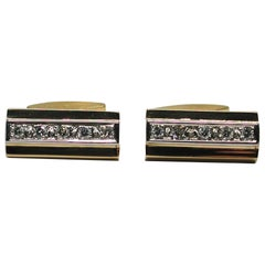 Vintage Men's Diamond Cufflinks