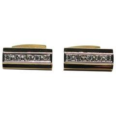 Vintage Men's Diamond Cufflinks