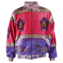 Vintage Men's Hand Made in Nepal Embroidered Bomber Jacket