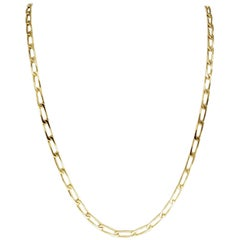 Vintage Men's Heavy Fancy Link 18 Karat Gold Chain