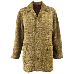 Vintage Mens Hope & Glory Faux Teddy Bear Fur Coat, 1990s