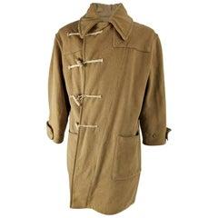 Vintage Mens Naval Wool Asymmetric Duffel Coat