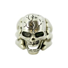 Vintage Men's Ring in the Shape of Skull