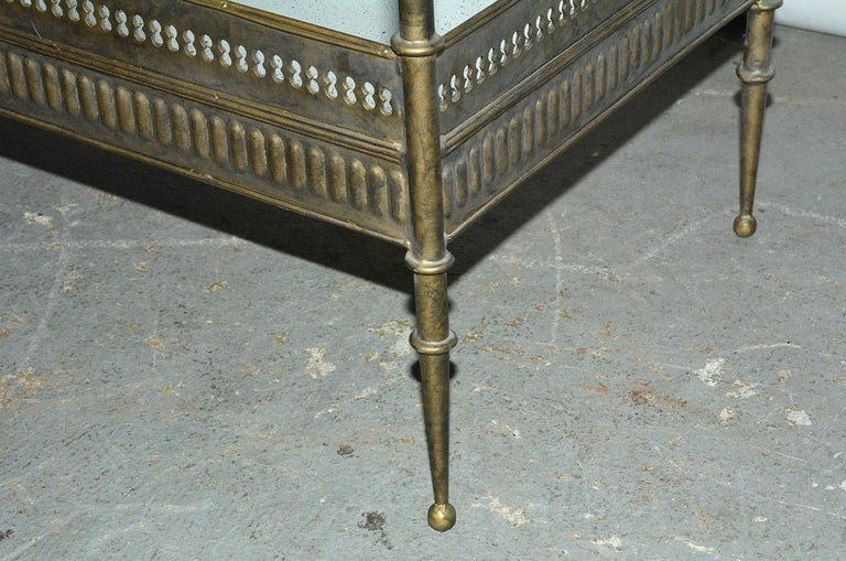 Vintage Metal and Mirrored Console 2