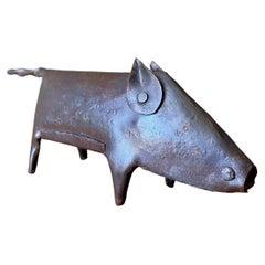 Vintage Metal Animal Sculpture