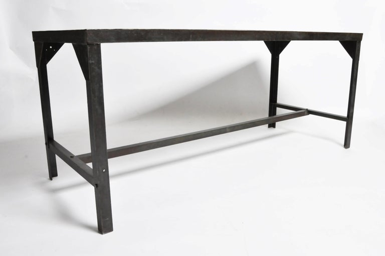 French Vintage Metal Industrial Welder's Table For Sale