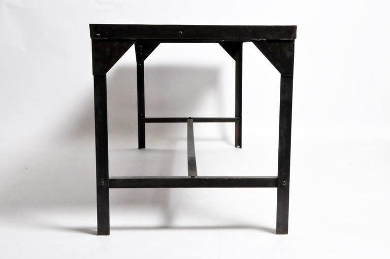 20th Century Vintage Metal Industrial Welder's Table For Sale