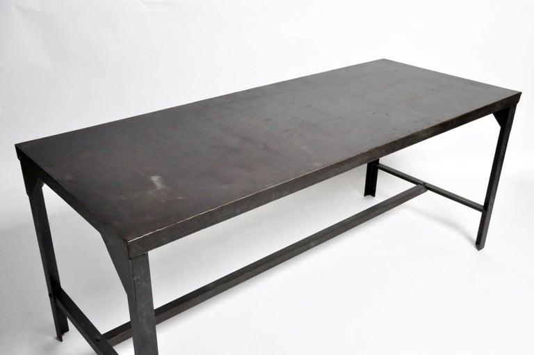 Vintage Metal Industrial Welder's Table For Sale 1
