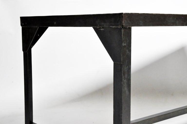 Vintage Metal Industrial Welder's Table For Sale 2