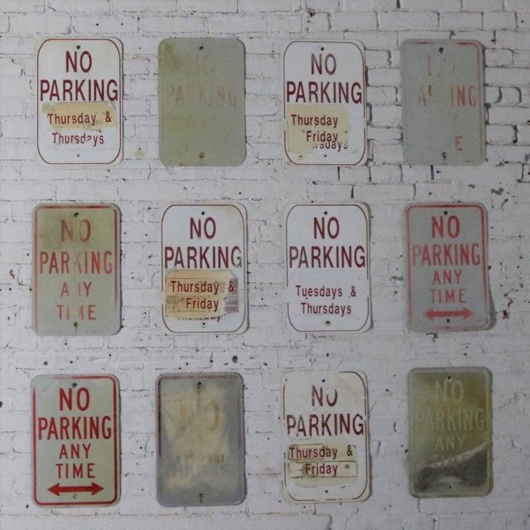 Vintage Metal No Parking Signs For Sale 4