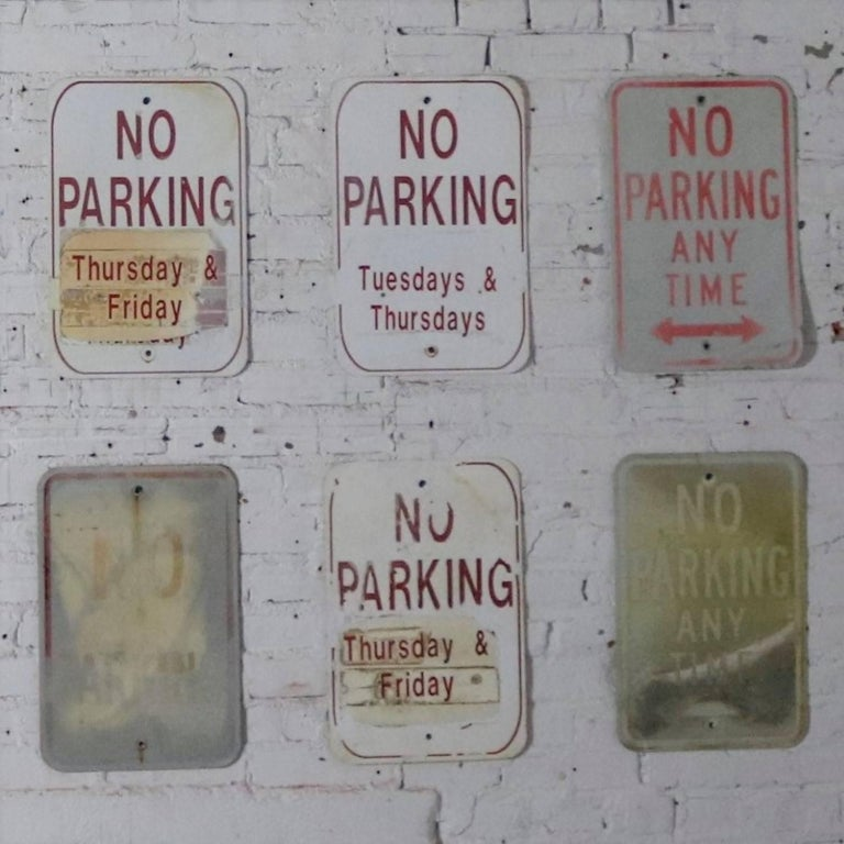 Vintage Metal No Parking Signs For Sale 6