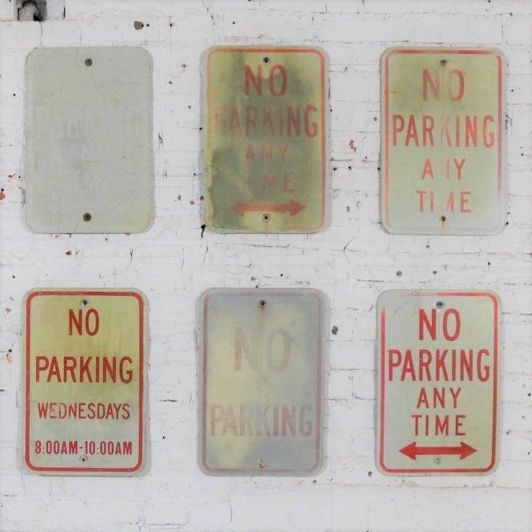 Vintage Metal No Parking Signs For Sale 7