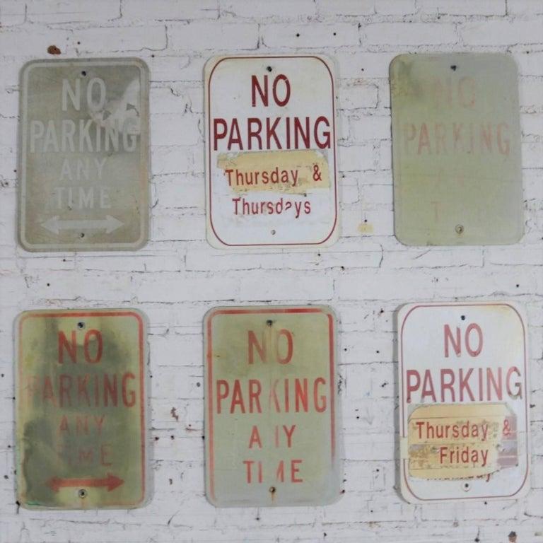 Vintage Metal No Parking Signs For Sale 8
