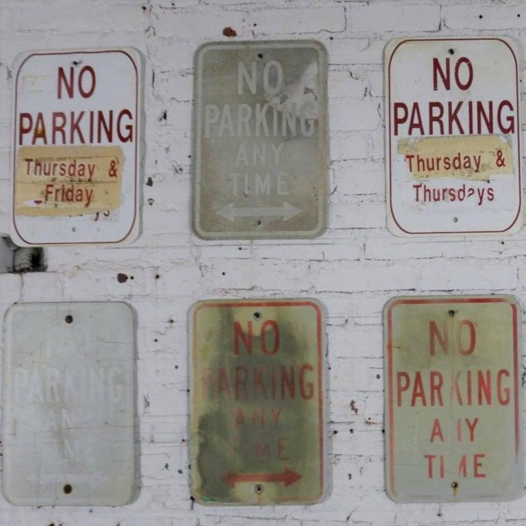 Vintage Metal No Parking Signs For Sale 9