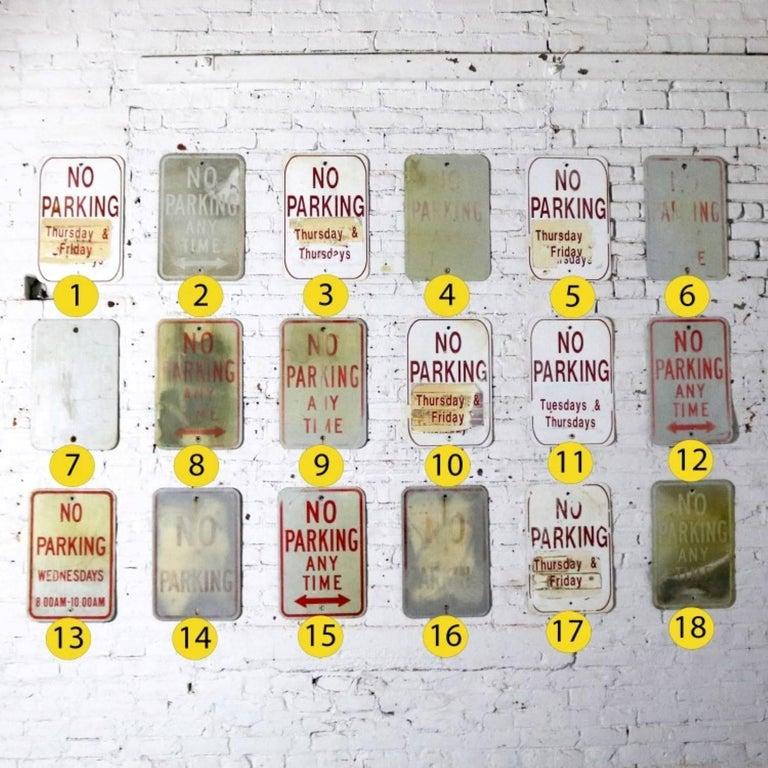 Vintage Metal No Parking Signs For Sale 1