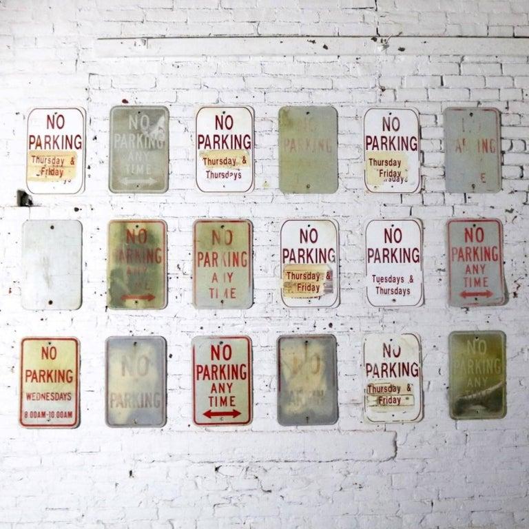 Vintage Metal No Parking Signs For Sale 2