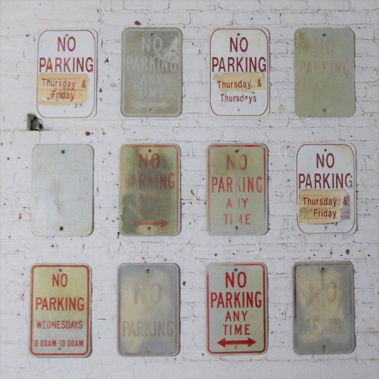 Vintage Metal No Parking Signs For Sale 3