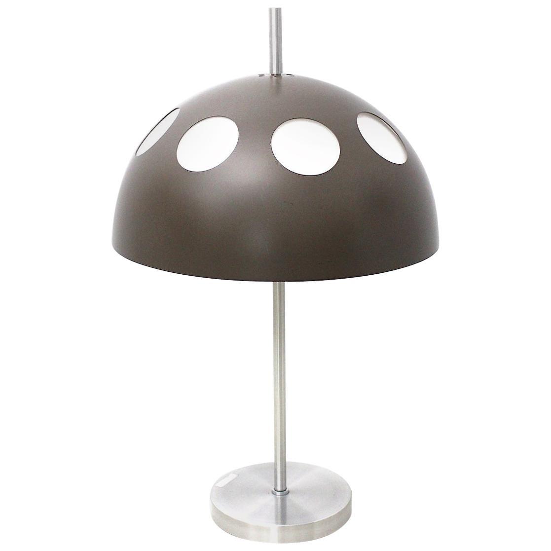 Vintage Metal Plastic Grey Table Lamp by RAAK Netherlands, 1980s