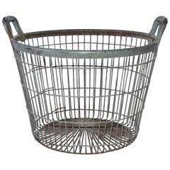 Vintage Metal Wire Clam Basket