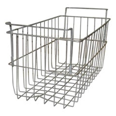 Vintage Metal Wire Locker Basket