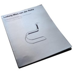 Vintage Metallic Cover Mies Van Der Rohe, MOMA Furniture Book, 1977