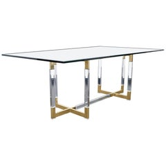 """Vintage """"Metric"""" Collection Dining Table by Charles Hollis Jones"""