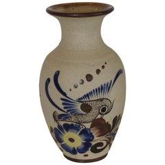 Vintage Mexican Talavera Hand Painted Ceramic Vase